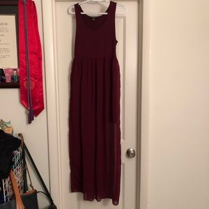 Forever 21 Maroon Cotton Maxi Dress